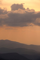 Stormy Mountain Vista Clingman's Cove at Sunset